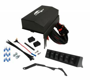 Featured - Jeep/UTV Wire Controller Kits - Jeep JK Wire Controller w/ 6-Switch Rocker Panel in Enclosed Housing Kit 555925