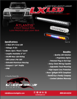 Atlantis LX LED 3 Watt Single Row