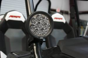 """LX LED  - 3-Watt 4 Inch Round A-Pillar Light UTV Kit with 1.50"""" Clamps - Wire Kit Included - Image 6"""
