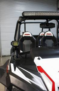 """LX LED  - 3-Watt 2x2 A-Pillar Light UTV Kit with 1.75"""" Clamps - Wire Kit Included - Image 7"""