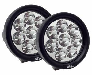 "LX LED  - 3-Watt 4 Inch Round A-Pillar Light UTV Kit with 1.75"" Clamps - Wire Kit Included - Image 2"