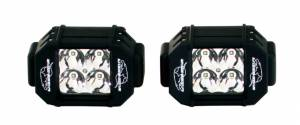 "LX LED  - 3-Watt 2x2 A-Pillar Light UTV Kit with 2.0"" Clamps - Wire Kit Included - Image 2"