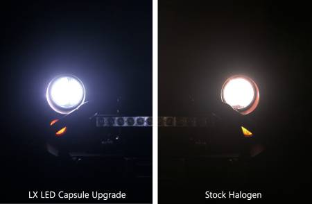 Applications - Jeep Lighting - LX LED Headlight Upgrade