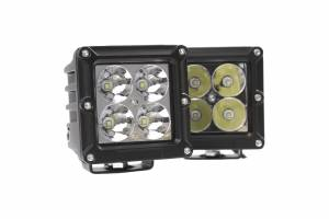 Applications - V-Twin / Motorcycle Lighting - Dominator LED - 4 Inch Dominator 5 Watt Cube Spot 4 LED 77250401