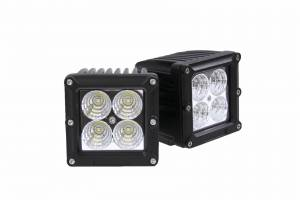 Applications - V-Twin / Motorcycle Lighting - Dominator LED - 4 Inch Dominator 5 Watt Cube Flood 4 LED 77250402