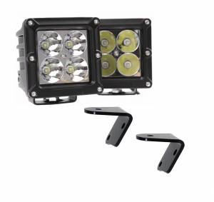 LED Jeep Lighting Kits - Lower A-Pillar LED Kits - Dominator LED - 4 Inch Dominator 5 Watt Cube Jeep Kit Spot 4 LED 55772504