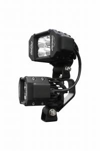LX LED Lights - LX LED Jeep Windshield Kits - LX LED  - LX LED Double Stacker Bracket 592300 Black Powdercoat Finish