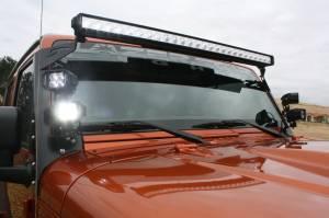 LX LED  - LX LED Double Stacker Bracket 592300 Black Powdercoat Finish - Image 4