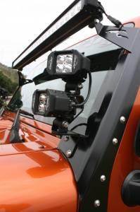 LX LED  - LX LED Double Stacker Bracket 592300 Black Powdercoat Finish - Image 7