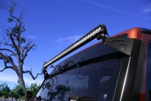 LX LED  - Jeep Wrangler A-Pillar Bracket 57691032 Black - Image 2