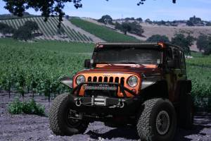 LX LED  - Jeep Wrangler A-Pillar Bracket 57691032 Black - Image 3