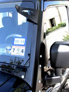 LX LED  - Jeep Wrangler A-Pillar Bracket 57691032 Black - Image 4
