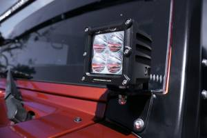 LX LED  - Jeep Windshield Bracket 5761022 Black Powdercoat - Image 4