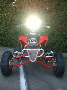 Lazer Star Billet Lights - 4 Inch Drop All Wide Pattern ATV Handlebar Light Bracket LSM302 - Image 4