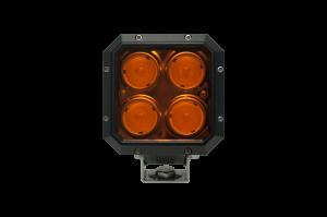 LX LED Lights - NEW! LXh 20-30 Watt Utility LED - LX LED  - 20 Watt Quad 40° Flood Amber Lens LXh LED