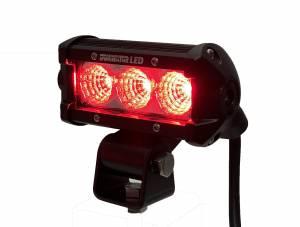 Dominator LED - Dominator LED Multi-Color - Dominator LED - Red 4 Inch Dominator 3 Watt Single Row Flood 3 LED 7713040205